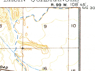 Reduced fragment of topographic map en--usgs--063k--060588--(1911)--N044-30_W109-00--N044-15_W108-45