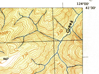 Reduced fragment of topographic map en--usgs--063k--060594--(1945)--N041-30_W124-15--N041-15_W124-00