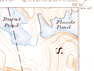 Reduced fragment of topographic map en--usgs--063k--060599--(1900)--N044-45_W068-45--N044-30_W068-30 in area of Branch Lake, Alamoosook Lake, Lower Patton Pond