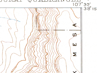 Reduced fragment of topographic map en--usgs--063k--060652--(1902)--N038-15_W107-45--N038-00_W107-30; towns and cities Ouray