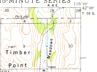 Reduced fragment of topographic map en--usgs--063k--060668--(1939)--N042-00_W116-15--N041-45_W116-00; towns and cities Owyhee