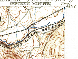 Reduced fragment of topographic map en--usgs--063k--060721--(1893)--N042-15_W072-30--N042-00_W072-15; towns and cities Monson Center, Palmer, Three Rivers