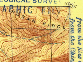 Reduced fragment of topographic map en--usgs--063k--060771--(1887)--N035-00_W094-00--N034-45_W093-45