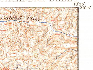Reduced fragment of topographic map en--usgs--063k--060786--(1896)--N034-15_W118-15--N034-00_W118-00; towns and cities El Monte, Pasadena, East Los Angeles, Alhambra, Montebello