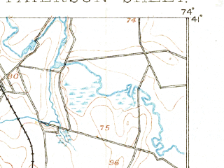 Reduced fragment of topographic map en--usgs--063k--060802--(1888)--N041-00_W074-15--N040-45_W074-00; towns and cities Paterson, Clifton, East Orange, Passaic, Orange