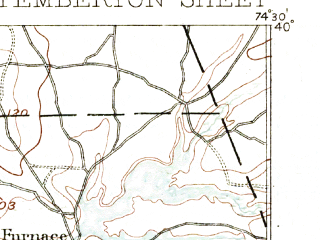 Reduced fragment of topographic map en--usgs--063k--060857--(1888)--N040-00_W074-45--N039-45_W074-30; towns and cities Brown Mills, Country Lake Estates, Leisuretowne, Pemberton