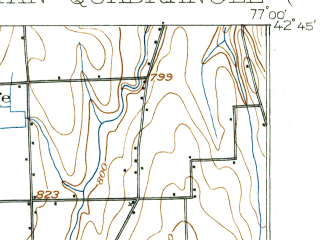 Reduced fragment of topographic map en--usgs--063k--060870--(1903)--N042-45_W077-15--N042-30_W077-00; towns and cities Penn Yan