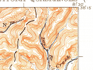 Reduced fragment of topographic map en--usgs--063k--060926--(1931)--N038-15_W081-45--N038-00_W081-30; towns and cities Belle, Chesapeake, Marmet