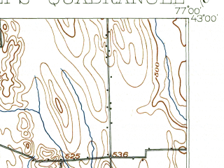 Reduced fragment of topographic map en--usgs--063k--060929--(1902)--N043-00_W077-15--N042-45_W077-00; towns and cities Manchester, Phelps, Rushville