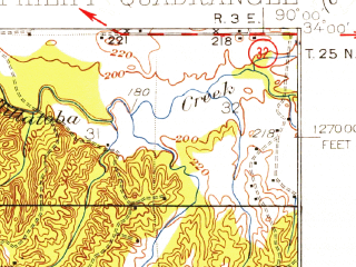 Reduced fragment of topographic map en--usgs--063k--060948--(1932)--N034-00_W090-15--N033-45_W090-00
