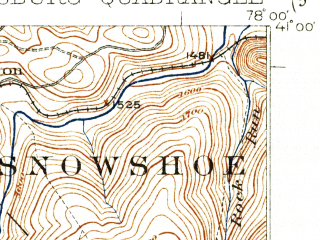 Reduced fragment of topographic map en--usgs--063k--060950--(1922)--N041-00_W078-15--N040-45_W078-00; towns and cities Chester Hill, Philipsburg, Port Matilda