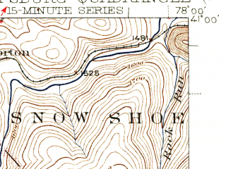 Reduced fragment of topographic map en--usgs--063k--060950--(1945)--N041-00_W078-15--N040-45_W078-00; towns and cities Port Matilda, South Philipsburg, Chester Hill