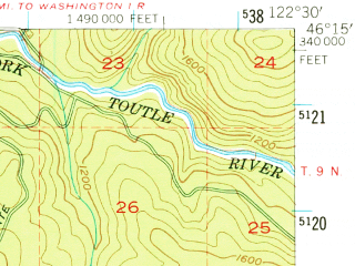 Reduced fragment of topographic map en--usgs--063k--060984--(1953)--N046-15_W122-45--N046-00_W122-30
