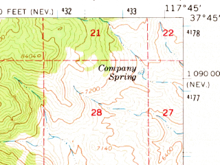 Reduced fragment of topographic map en--usgs--063k--061028--(1963)--N037-45_W118-00--N037-30_W117-45