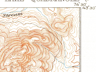 Reduced fragment of topographic map en--usgs--063k--061031--(1908)--N043-30_W074-45--N043-15_W074-30 in area of Piseco Lake