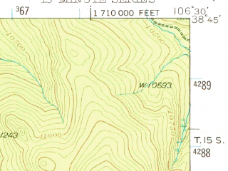 Reduced fragment of topographic map en--usgs--063k--061034--(1941)--N038-45_W106-45--N038-30_W106-30; towns and cities Pitkin