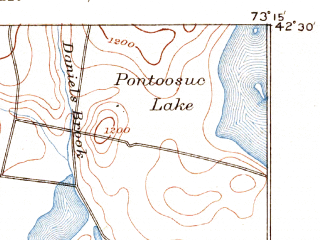 Reduced fragment of topographic map en--usgs--063k--061040--(1893)--N042-30_W073-30--N042-15_W073-15 in area of Onota Lake; towns and cities Pittsfield, Housatonic, Lee, Lenox