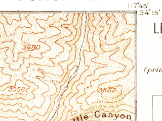Reduced fragment of topographic map en--usgs--063k--061142--(1897)--N034-15_W118-00--N034-00_W117-45 in area of San Gabreil Reservoir, Morris Reservoir, Puddingstone Reservoir; towns and cities Pomona, West Covina, Baldwin Park, West Puente Valley, Azusa