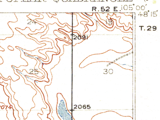 Reduced fragment of topographic map en--usgs--063k--061154--(1912)--N048-15_W105-15--N048-00_W105-00; towns and cities Poplar