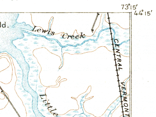 Reduced fragment of topographic map en--usgs--063k--061177--(1894)--N044-15_W073-30--N044-00_W073-15; towns and cities Port Henry, Vergennes, Westport
