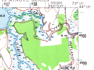Reduced fragment of topographic map en--usgs--063k--061177--(1945)--N044-15_W073-30--N044-00_W073-15; towns and cities Port Henry, Vergennes, Westport