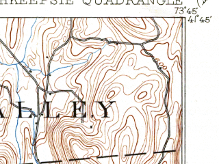 Reduced fragment of topographic map en--usgs--063k--061250--(1903)--N041-45_W074-00--N041-30_W073-45; towns and cities Poughkeepsie, Arlington, Beacon, Myers Corner, Spackenkill