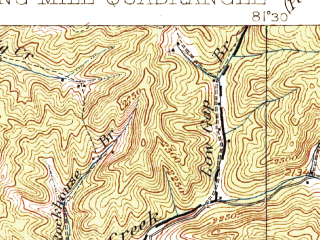 Reduced fragment of topographic map en--usgs--063k--061252--(1916)--N037-15_W081-45--N037-00_W081-30; towns and cities Tazewell