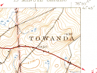Reduced fragment of topographic map en--usgs--063k--061256--(1945)--N041-45_W076-45--N041-30_W076-30