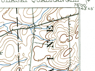 Reduced fragment of topographic map en--usgs--063k--061356--(1895)--N043-45_W076-15--N043-30_W076-00; towns and cities Altmar, Ellisburg, Lacona