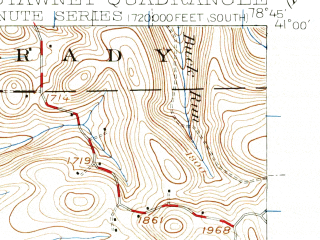 Reduced fragment of topographic map en--usgs--063k--061362--(1939)--N041-00_W079-00--N040-45_W078-45; towns and cities Punxsutawney, Big Run, Burnside, Glen Campbell