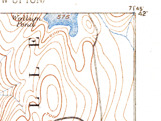 Reduced fragment of topographic map en--usgs--063k--061368--(1889)--N042-00_W072-00--N041-45_W071-45; towns and cities Putnam District, North Grosvenor Dale, South Woodstock, Wauregan