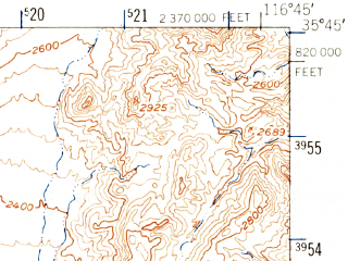 Reduced fragment of topographic map en--usgs--063k--061374--(1948)--N035-45_W117-00--N035-30_W116-45