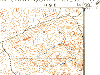 Reduced fragment of topographic map en--usgs--063k--061390--(1922)--N037-00_W121-15--N036-45_W121-00