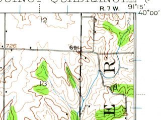 Reduced fragment of topographic map en--usgs--063k--061398--(1944)--N040-00_W091-30--N039-45_W091-15; towns and cities Quincy