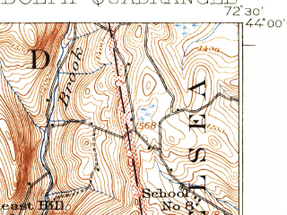 Reduced fragment of topographic map en--usgs--063k--061441--(1926)--N044-00_W072-45--N043-45_W072-30