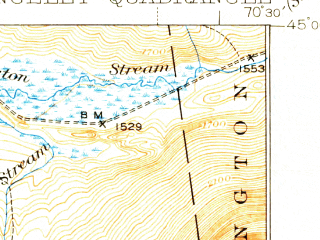 Reduced fragment of topographic map en--usgs--063k--061446--(1939)--N045-00_W070-45--N044-45_W070-30