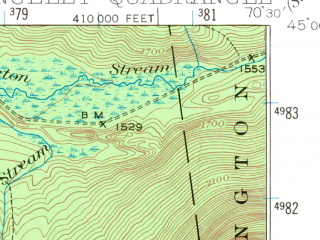 Reduced fragment of topographic map en--usgs--063k--061446--(1949)--N045-00_W070-45--N044-45_W070-30