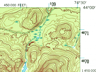 Reduced fragment of topographic map en--usgs--063k--061454--(1954)--N044-00_W074-45--N043-45_W074-30 in area of Raquette Lake, Forked Lake, Brandreth Lake