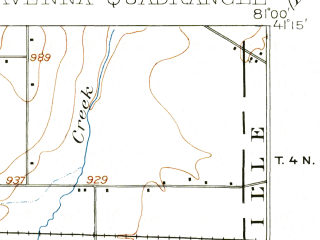 Reduced fragment of topographic map en--usgs--063k--061475--(1906)--N041-15_W081-15--N041-00_W081-00 in area of Kirwin Reservoir; towns and cities Ravenna, Windham