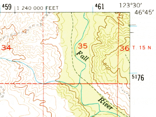 Reduced fragment of topographic map en--usgs--063k--061486--(1955)--N046-45_W123-45--N046-30_W123-30; towns and cities Raymond