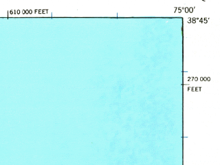 Reduced fragment of topographic map en--usgs--063k--061545--(1938)--N038-45_W075-15--N038-30_W075-00; towns and cities Millville, Ocean View, Rehoboth Beach