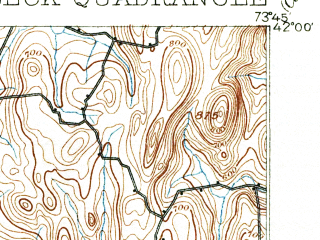 Reduced fragment of topographic map en--usgs--063k--061579--(1898)--N042-00_W074-00--N041-45_W073-45; towns and cities Kingston, Rhinebeck, Haviland, Lake Katrine