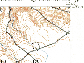 Reduced fragment of topographic map en--usgs--063k--061592--(1903)--N043-00_W075-00--N042-45_W074-45; towns and cities Cherry Valley, Richfield Springs