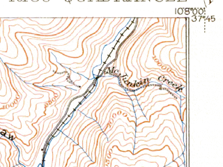 Reduced fragment of topographic map en--usgs--063k--061610--(1899)--N037-45_W108-15--N037-30_W108-00; towns and cities Rico