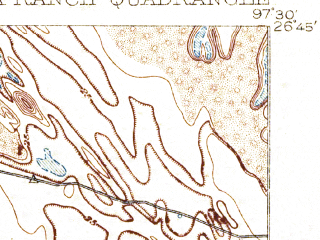 Reduced fragment of topographic map en--usgs--063k--061750--(1921)--N026-45_W097-45--N026-30_W097-30; towns and cities San Perlita