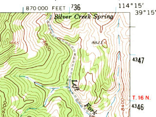 Reduced fragment of topographic map en--usgs--063k--061883--(1959)--N039-15_W114-30--N039-00_W114-15