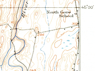 Reduced fragment of topographic map en--usgs--063k--061915--(1914)--N045-00_W073-15--N044-45_W073-00; towns and cities St. Albans, Swanton