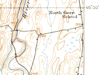 Reduced fragment of topographic map en--usgs--063k--061915--(1916)--N045-00_W073-15--N044-45_W073-00; towns and cities St. Albans, Swanton