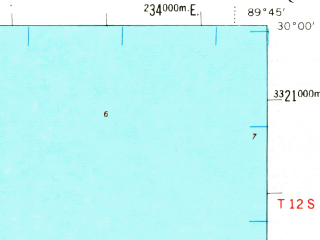 Reduced fragment of topographic map en--usgs--063k--061918--(1969)--N030-00_W090-00--N029-45_W089-45 in area of Lake Lery, Big Mar; towns and cities Chalmette, Arabi, Violet, Meraux, Poydras