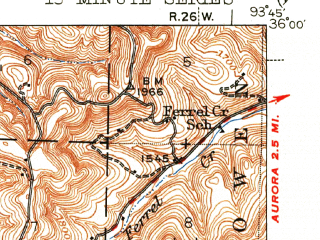 Reduced fragment of topographic map en--usgs--063k--062008--(1946)--N036-00_W094-00--N035-45_W093-45; towns and cities St. Paul
